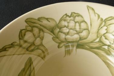"""Bowl, 12"""" Artichoke, detail"""