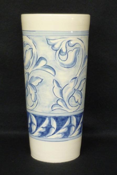 Cylinder Vase, blue