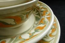 Dinnerware, Florentine close-up