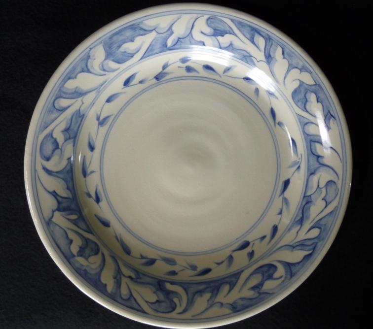 Dinner Plate-Blue 2-band
